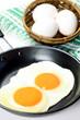 fried egg and egg