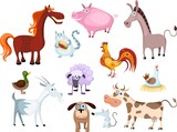 new farm animal set poster