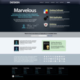 Web Design Template 8 (Dark Theme) Vector