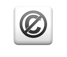 Boton cuadrado blanco dominio publico
