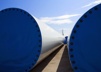 Wind turbines in Asturias, Spain