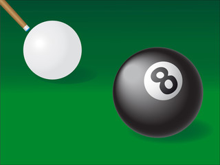 white and black ball for billiards