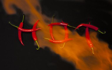 Hot Chillis on fire
