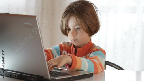 Cute girl with laptop