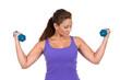 Woman Dumbbell Training