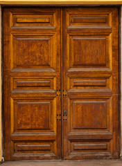 Retro-styled wooden door