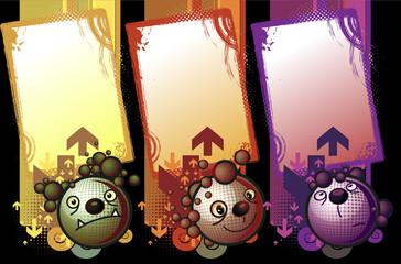 Banners de criaturas con algunas expresiones