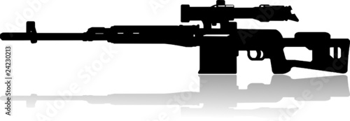 sniper rifle vector illustration
