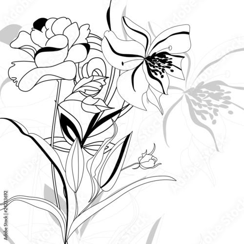 Decorative background with flowers © Regina Jersova