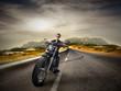 Fototapeta Motocykl - Mężczyzna - Podróż / Transport