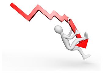Personnage 3d crise économique
