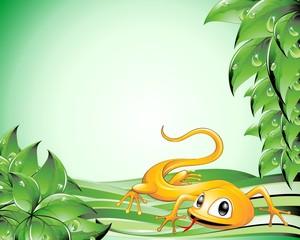Lucertola Cartoon Sfondo-Lizard Cartoon Background-Vector