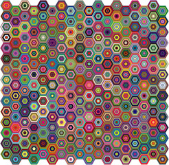 Abstract geometric vector background - hexagons