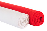 Rag roll. Isolated poster