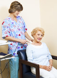 Physical Therapist Using Ultrasound poster