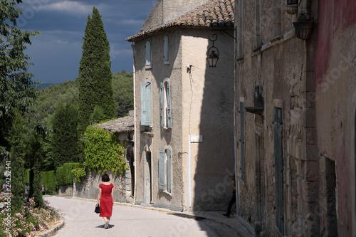 Das Dorf Oppede-le-Vieux in der Provence