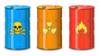 Barrel of chemicals. The poison, radiation, flammable.
