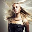 Leinwanddruck Bild - Beautiful woman with magnificent hair