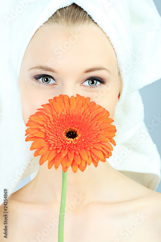 face and flower