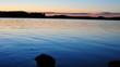 Quadro See im Sonnenuntergang