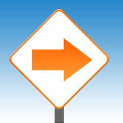 Directional arrow sign