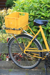 Yellow transportation bike