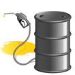 Ölfass und das Erdöl