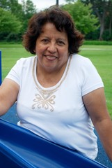 HIspanic woman in her fifties