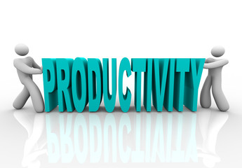 Productivity - People Push Word Together