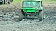 Extreme offroad car in mud