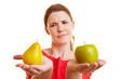 Vergleich zwischen Äpfeln und Birnen