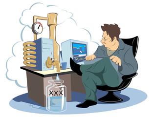 Modding (vector caricature modding PC - Distillation)