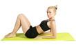 Fitness Noir et Blanc tapis vert
