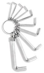 set of allen hex keys on a white background