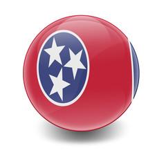 Esfera brillante con bandera Tennessee