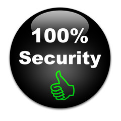 Black button 100% Security