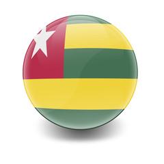 Esfera brillante con bandera Togo