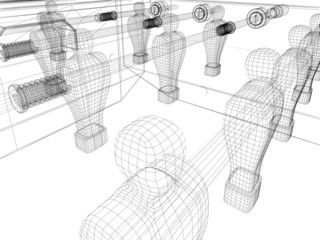 calcetto wireframe