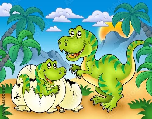 tyrannosaurus-rex-w-krajobrazie