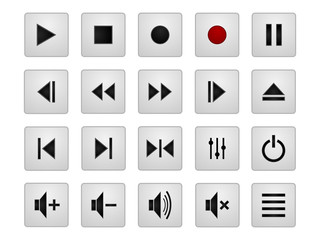 Set of useful player buttons