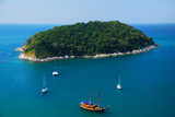 Birdeye view of sail at Phuket island, Thailand