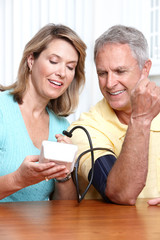 Home monitoring of blood pressure