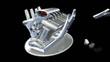 Animation construction moteur 3D vidéo
