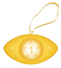 One gold medal,object isolated, vector