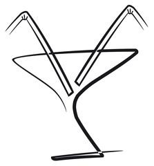 Cocktail con pajas