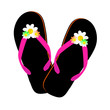 flip flop black illustration