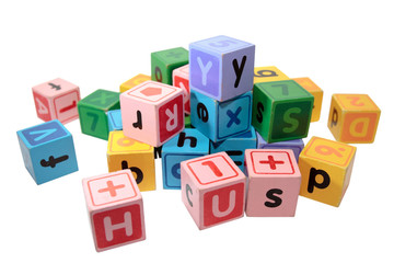 assorted letter play blocks
