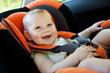 baby smile in car