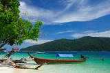 Longtail boat on the beach of Rawi island, Thailand