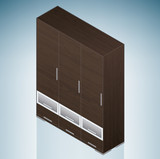 Furniture: Bedroom Cupboard with Drawers poster